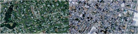 Piedmont and Oakland, CA (Courtesy Per Square Mile, Public Domain Photos)
