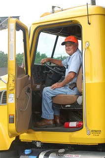 At 80 years old, Hubert Elliot is North Carolina's oldest Department of Transportation Worker. Photo by NCDOT Communications via flickr.com.