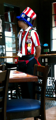 "At TGI Friday's, ""flair""=fun. Photo by Derek Morrison via flickr.com."