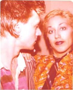 John Denney of The Weirdos checks out photographer Alice Bag pretending to be... John Denney. Weird. Photo by Alice Bag via flickr.com.