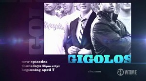 A Showtime ad for Gigolos.