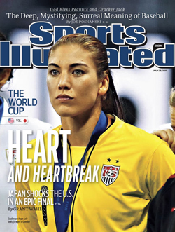 Soccer player Hope Solo covers Sports Illustrated in 2011