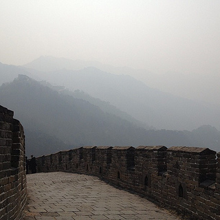 Pollution at the Great Wall of China. Photo by Thomas Galvez via flickr.com.