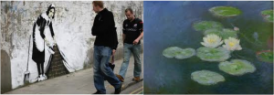 Banksy vs. Monet