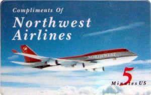 northwest airlines calling card