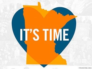 Image via MNUnited.com, an organization formed to fight a proposed Constitutional amendment that would have banned gay marriage in MN, but repurposed to help make marriage equality the law in the state once the amendment was defeated.