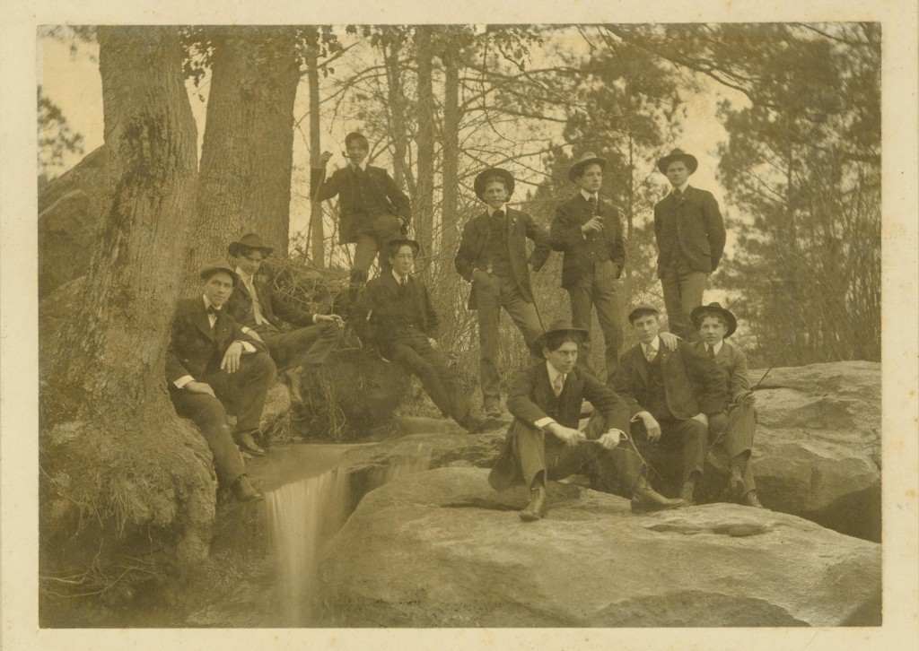 The men of Sigma Alpha Epsilon, Emory University archives.