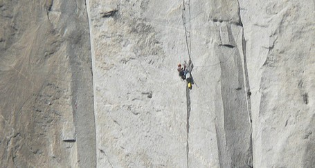 A climber on El Capitan. Photo by Naotake Murayama via Flickr.