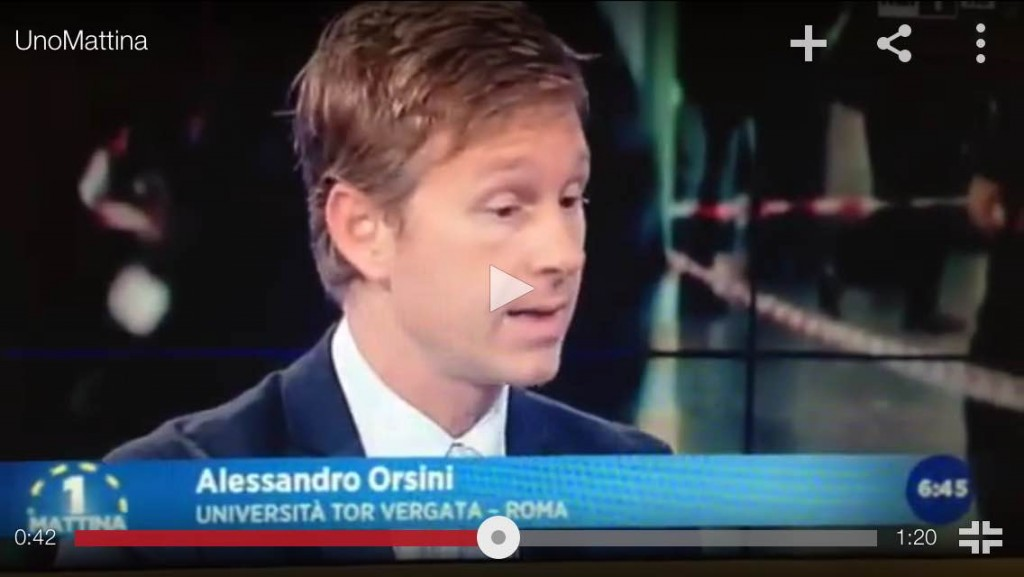 An Italian State Television interview with Dr. Orsini.