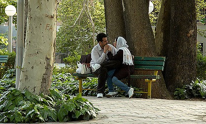 A couple in Tehran. Photo by Kamyar Adl, Flickr CC.