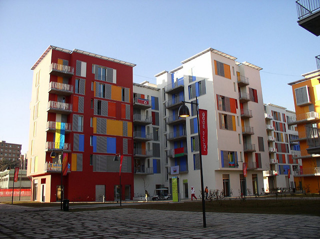 Turin's Olympic Village in 2005, before the athletes arrived. Marco Scala, Flickr CC. https://flic.kr/p/aiymh