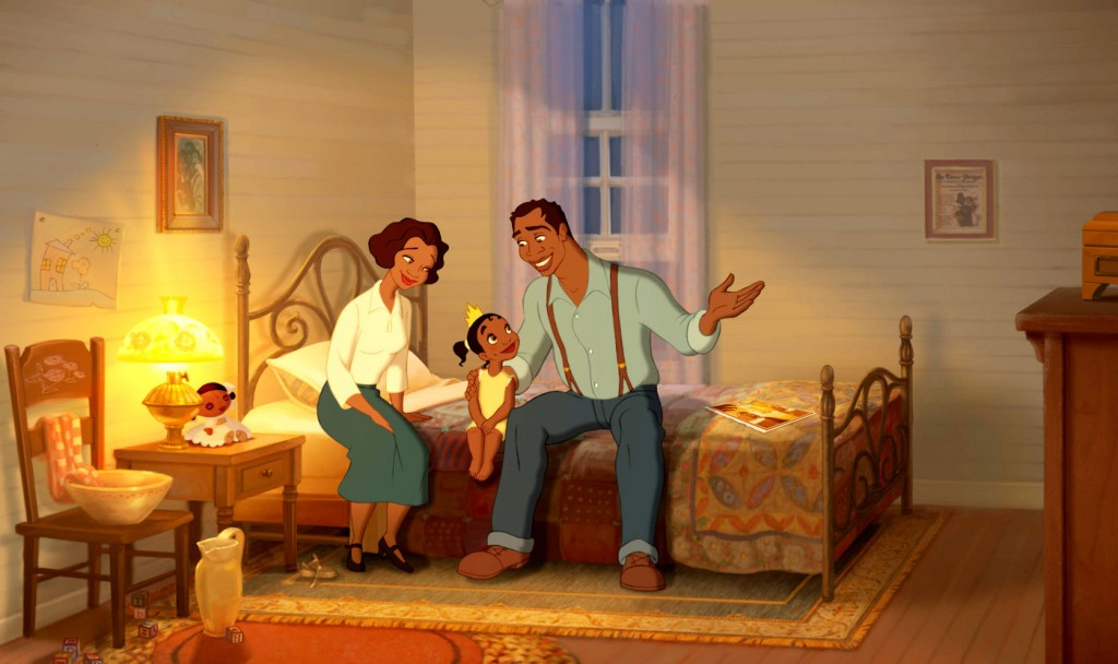 In The Princess and the Frog, Tiana and her parents can only dream of opening a restaurant.