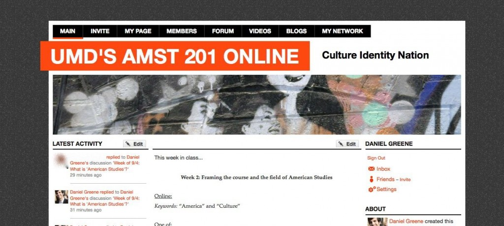 AMST 201 landing page