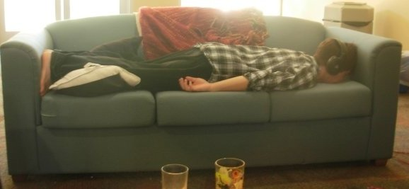 The author, planking