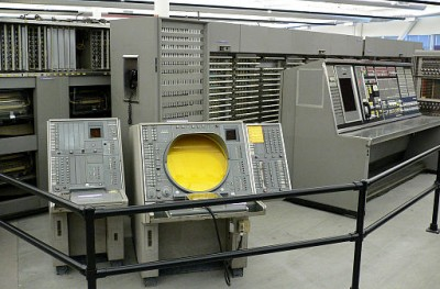 IBM's SAGE, a large semi-automated air defense system from the Cold War era. C/o Wikimedia Commons