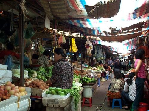 A Market in Cambodia. Via Wikimedia Commons