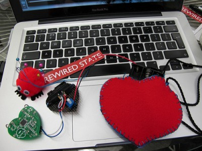 Hacking a HeartSpark pendant (Image & hack credit: Rainy Cat)