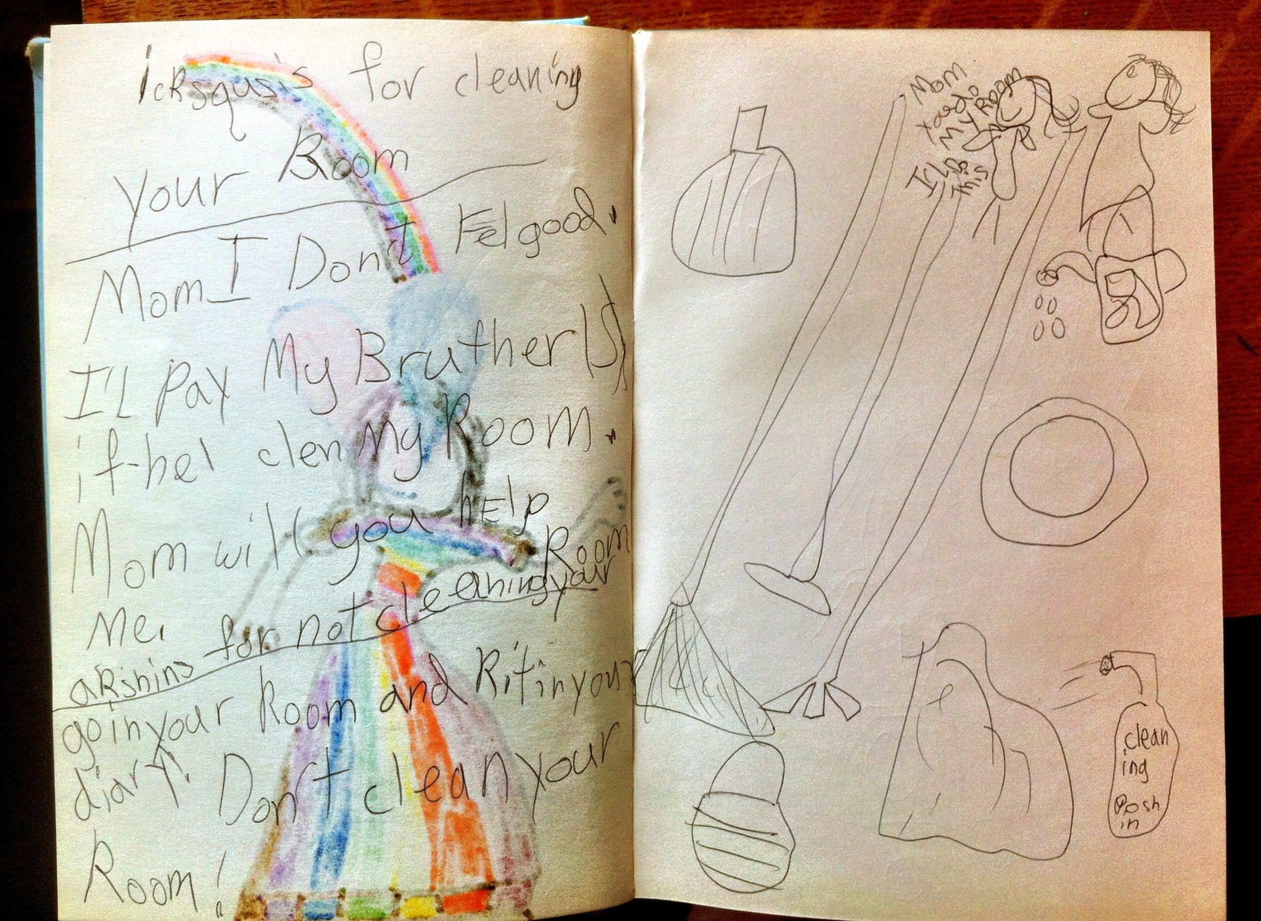 Image credit: author, age 6.
