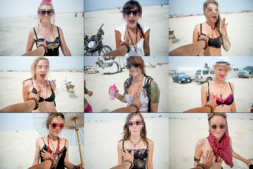 "Blurred and Cropped Version of ""Grabbing 100+ Boobs at Burning Man 2013"""