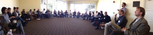 """QS Researchers"" breakout session at #qs13. Image credit: James McCarter"
