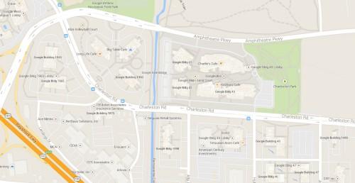 Google Maps Looking at the GooglePlex