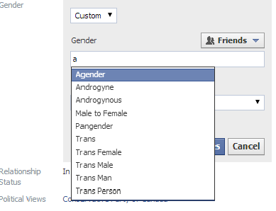 Playing with my own gender options