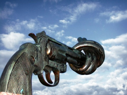 Swedish Non-Violence Sculpture by Carl Fredrik Reuterswärd