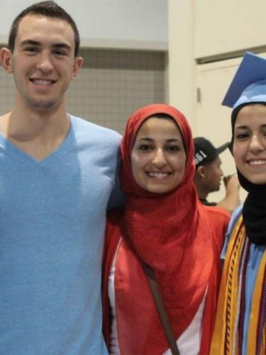 The slain, Deah Shaddy Barakat, Yusor Mohammad, and Razan Mohammad Abu-Salha
