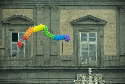 Photo taken at the Napoli Pride Parade in 2010