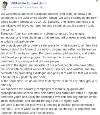 white student union