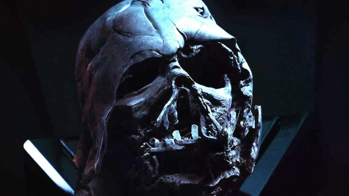 metled darth vader helmet