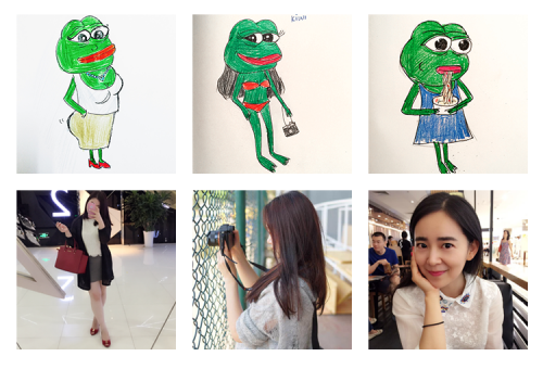 Personalized sad frog profile pictures drawn by a WeChat group member. Source: Zhihu