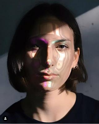 Designer Johanna Jaskowska in her beauty3000 filter