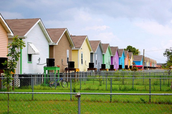 The Musicians' Village neighborhood in New Orleans, rebuilt some three years after Hurricane Katrina. Photo by Tanya Lukasik via Flickr.