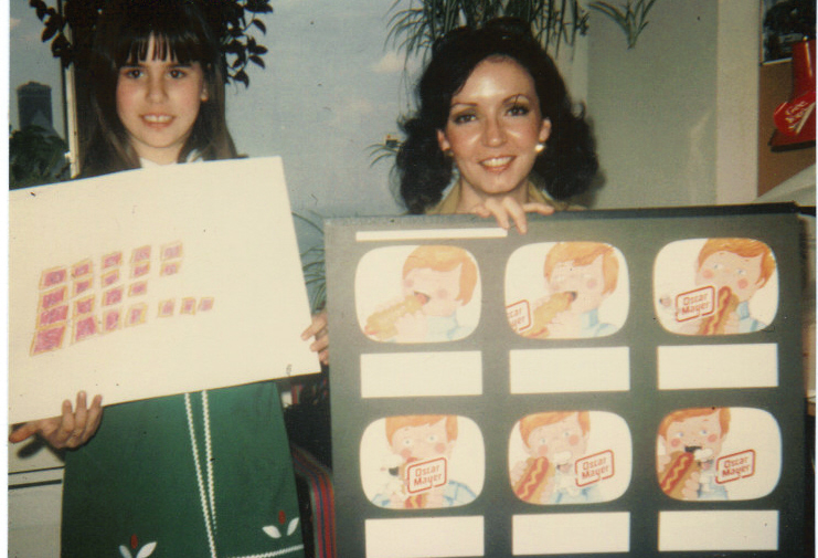 Portrait of the sociologist as a young artist: me about age 7 drawing advertising storyboards with one of the art directors at J. Walter Thompson in Chicago. As you can tell from the art director's storyboard, this was while the team (which included my mother) was working on the Oscar Mayer account.