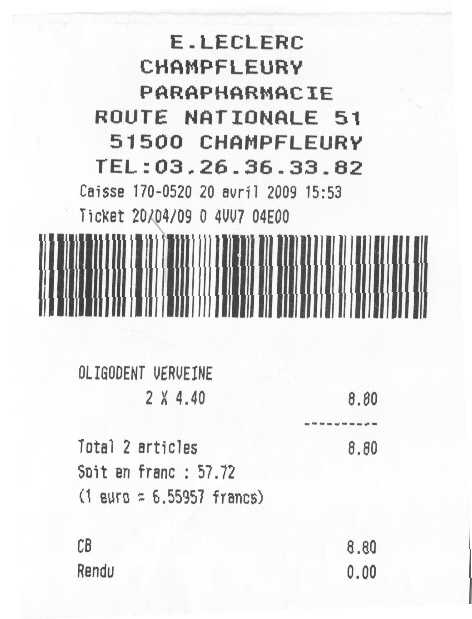 francs-or-euros-leclerc-receipt