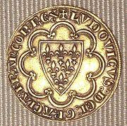 An ecu minted by Louis IX.