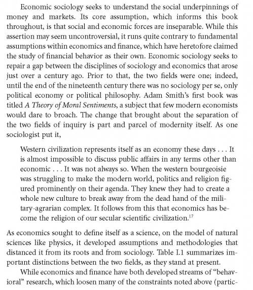 economic sociology karl polanyi s concept The economic historian karl polanyi argued that the functioning of polanyi's theory led scholars to argue economic sociology is particularly.
