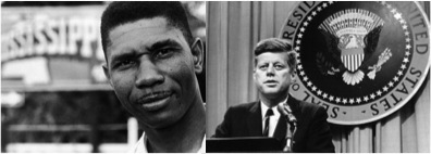 Medgar Evers and John F. Kennedy, Jr. in 1963.