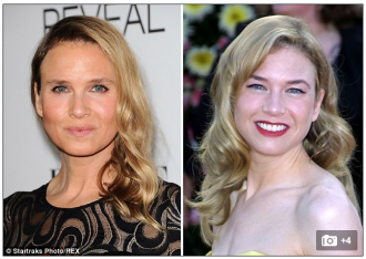 The Daily Mail compared photos of Zellweger last week, aged 45, with photos from 2001, when she was 31.
