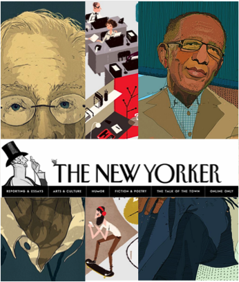 Images excerpted from New Yorker artists Simon Prades, Leo Espinosa, and Tony Rodriguez.