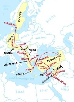 Map by Olivier Kugler, © New Yorker.