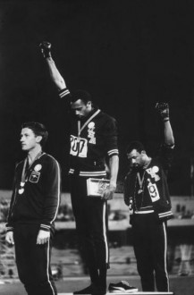Via Time Magazine, the 1968 Olympics victory stand salute.