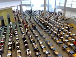 Students take standardized test. Photo by Patrik Axelsson via Flickr.
