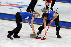 Team USA! Curling at the Vancouver Olympics. Credit: Jon Oropeza/jon oropeza on Flickr, under Creative Commons (CC BY-SA 2.0).