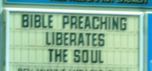 An example of religious messages displayed everywhere  (Photo courtesy of the author)