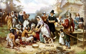 """Traditional"" Vision of the First Thanksgiving"
