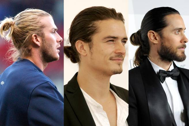 David Beckham Orlando Bloom And Jared Leto All Sporting Man Buns Elle