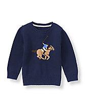 Polo Sweater: $52. Image Source: www.janieandjack.com