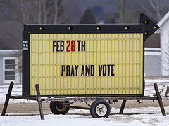 Pray and Vote, by Bill Bouton via flickr.com